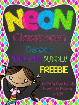 NEON with Chalkboard Behavior Clip Chart {FREEBIE Sampler}