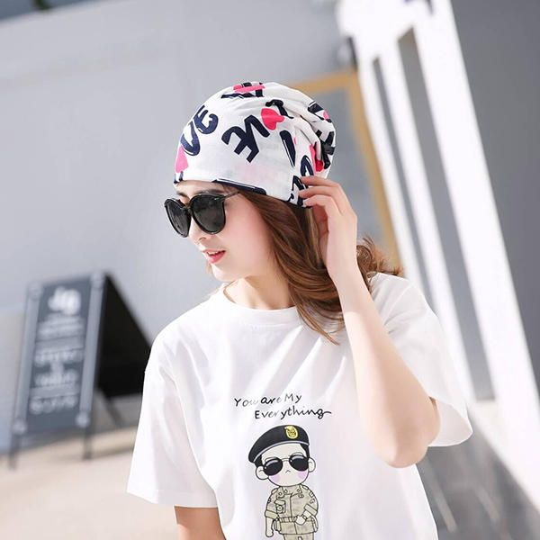 Women Cotton Casual Printing Hood Headpiece Summer Breathable Beanie Hats at Banggood