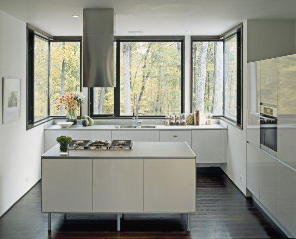 Nowoczesna kuchnia z oknem | Bajkowe Wnętrza