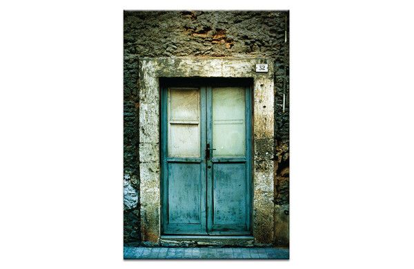 Artist Lane Joe Vittorio Doors of Italy: Doppie Porte Framed Canvas Print