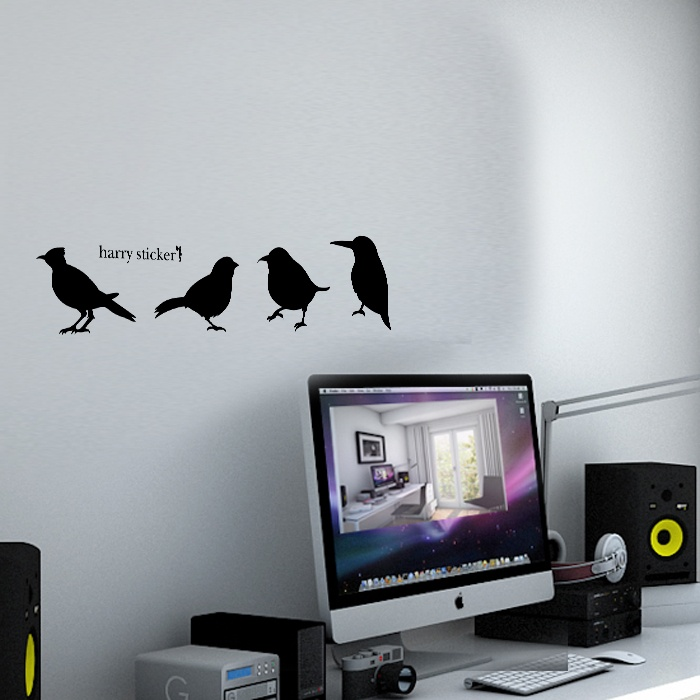 wallsticker bird Wallpaper interior Design