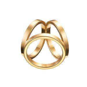 Luxusný trojprstenec v zlatej farbe, je luxusná hrubšia ozdoba na hodvábne šatky a šály. Prstenec je krásny ako na obrázku. Spona má prvotriednu kvalitu a je vysoko odolná. Ozdoba sa skladá z trojitého krúžku, aby bolo možné uviazať ho na hodvábnu šatku alebo šál. www.vegalm.sk
