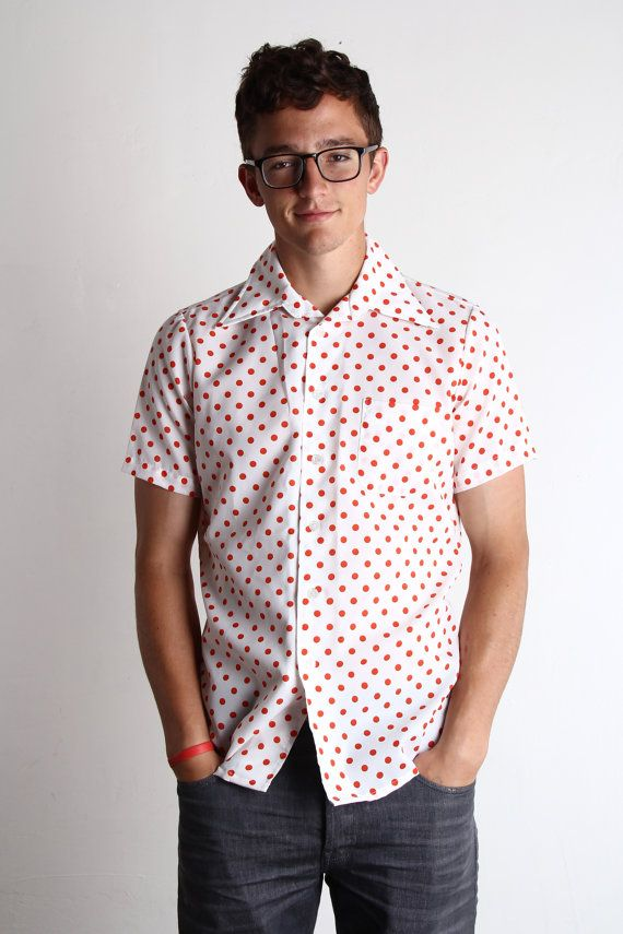 White polka dot shirt mens is shirt for Mens polka dot shirt short sleeve