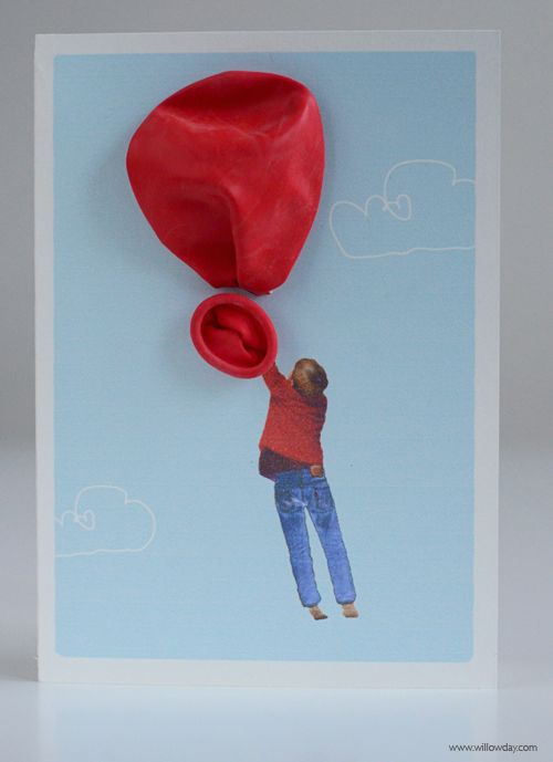 DIY 3-D Balloon Cards. Cute for Valentine's Day or a Birthday Party Invite