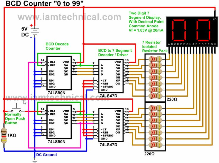 16 best bcd decade digital counters images on pinterest counter rh pinterest com Frequency Counter Circuits Schematics 0 to 99 digital counter circuit diagram
