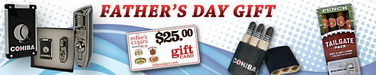 Enjoy this Father's day by shopping for Mike's cigars as we offer a wide range of cigar gifts. Gift your father a rich smoke from so many options available including renowned brands of cigars, cigar accessories & many more.