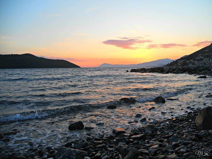 Sunset, Chania beach, Sterea Ellada
