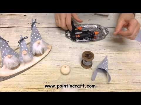 Gnomi natalizi con rocchetto - Video Tutorial - Creatività Organizzata