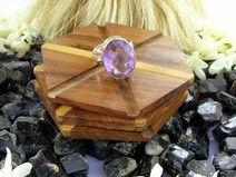 Rings For Women - Silver Africa Amethyst Ring Size