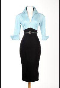 Lauren dress in blue/black from Miss Dixiebelle  www.missdixiebelle.co.uk