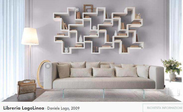 Bucherregal Systeme Presotto Highlight Wohnraum - Design
