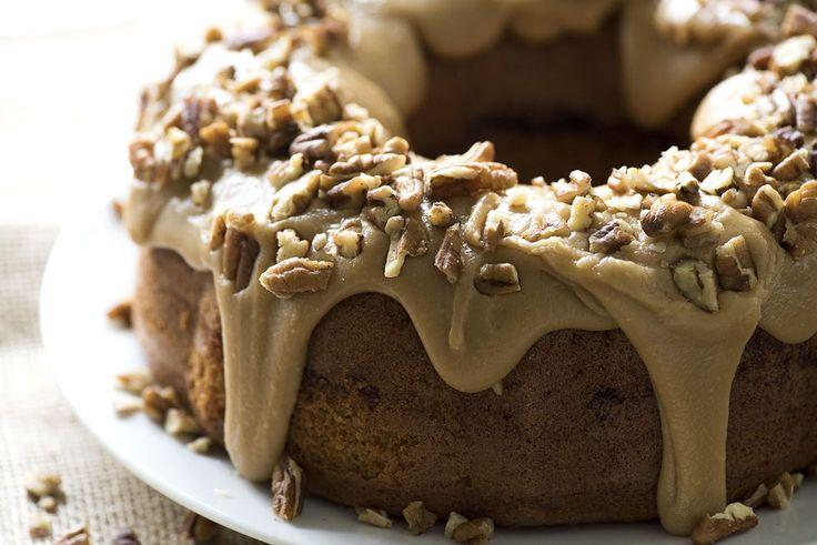 Brown Sugar Swirled Praline Bundt Cake