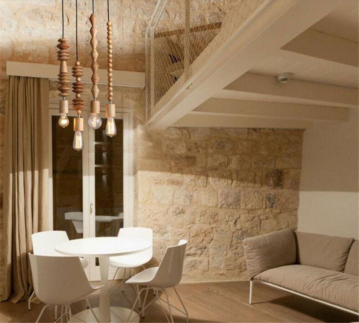 Старинные подвесной ретро стиль дубовой лампы 120 см шнур геометрической бусины строка droplight висячие светильники купить на AliExpress