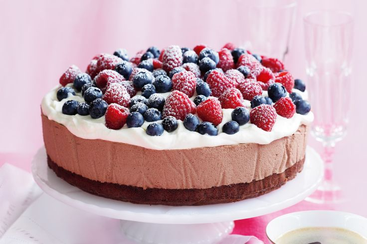 Get nostalgic with old fashioned favourites, like this triple chocolate mousse cake.