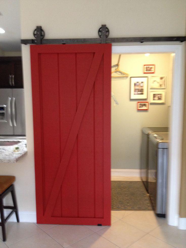 Laundry room barn door for the house pinterest for Barn door ideas for laundry room