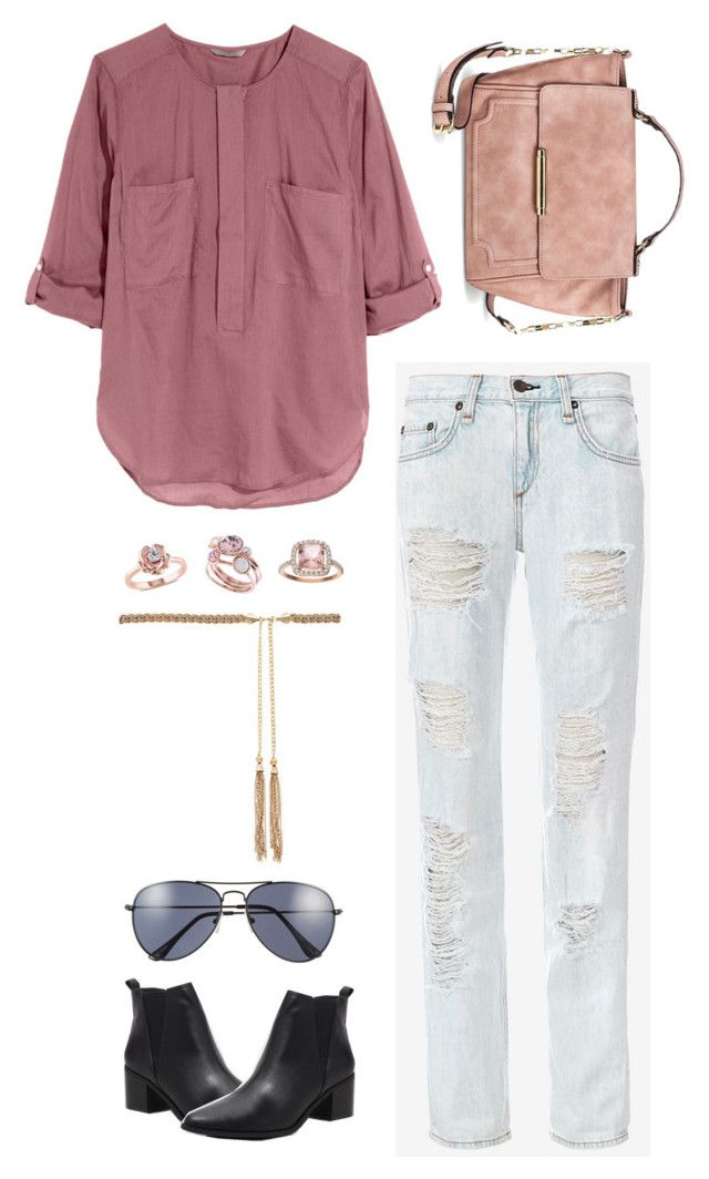 """""""No. 954"""" by amyjswardrobe ❤ liked on Polyvore featuring H&M, rag & bone, Forever 21, Merona, A.J. Morgan, Forever New and Ted Baker"""