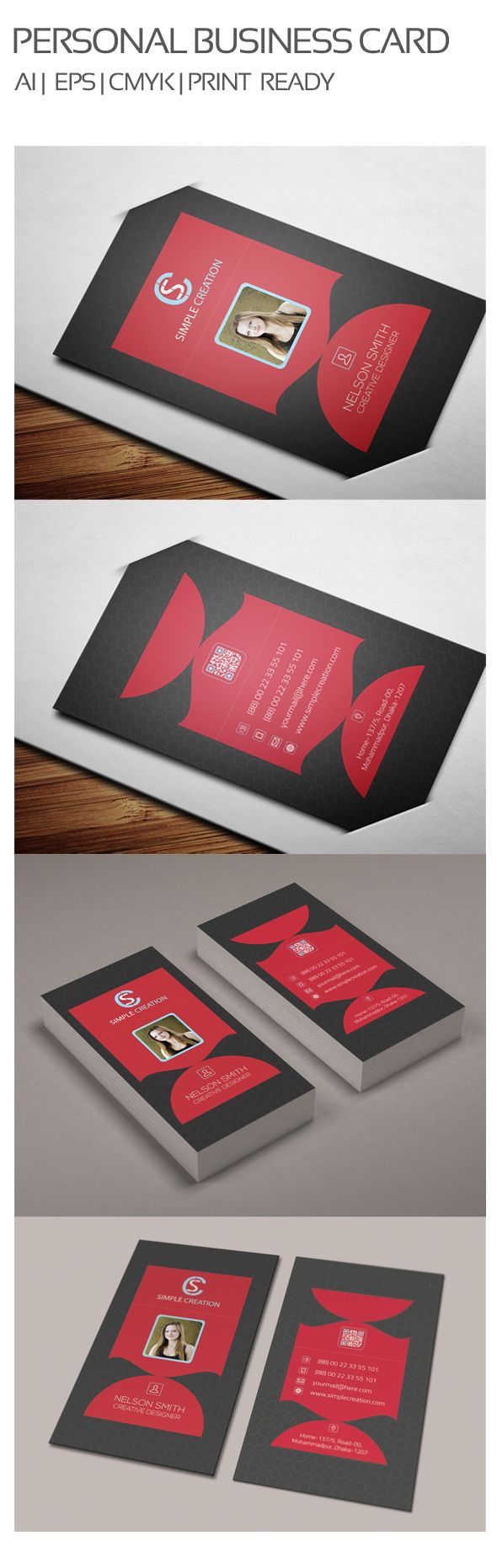 256 best Free Business Card Templates images on Pinterest | Blue ...