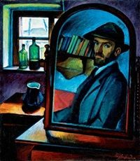 Önarckép a nagybányai mûteremben Self-portrait in the studio in Nagybánya by Sándor Ziffer