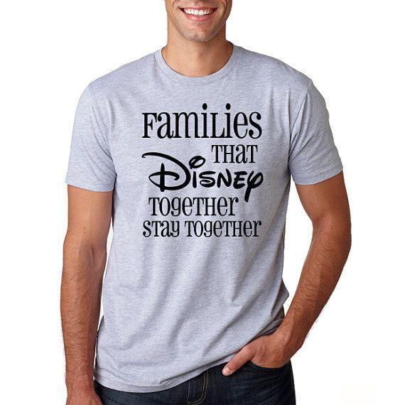 "Disney's ""Families that Disney"" T-Shirt // Plus Size Disney // Funny Disney Shirt // Adult Disney Shirt // Men's Disney // Disney Vacation"