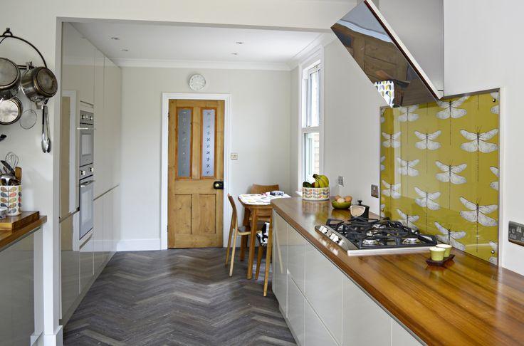 Make a Splash With a DIY Wallpaper Backsplash — Apartment Therapy Tutorials