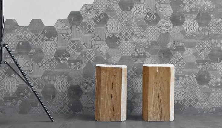 Provenza's Gesso line combines plaster with a gauze binder to form tiles in Natural White, Taupe Linen, Pearl Grey and Velvet Black | azuremagazine.com