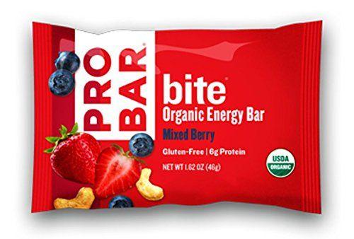 PROBAR bite Organic Snack Bar, Mixed Berry, 1.62 Ounce (P...
