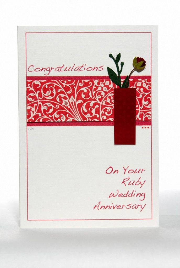 sapphire wedding anniversary invitations%0A Ruby Wedding Anniversary