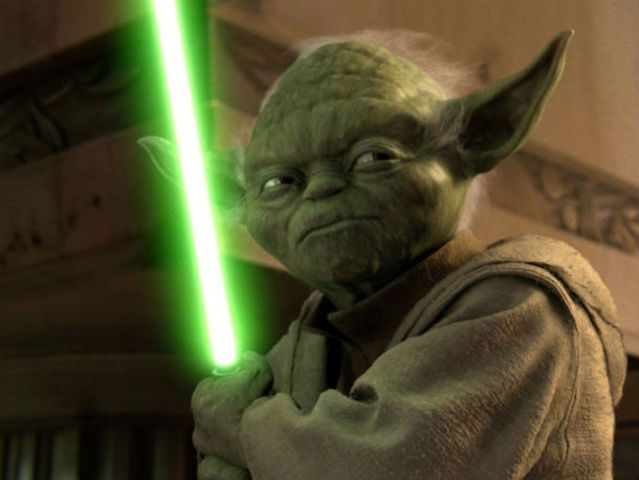 I got : Yoda! What Star Wars Character Are You?