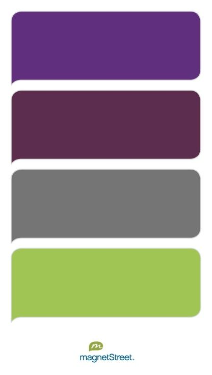 Plum, Eggplant, Charcoal, and Lime Wedding Color Palette - custom color palette created at MagnetStreet.com