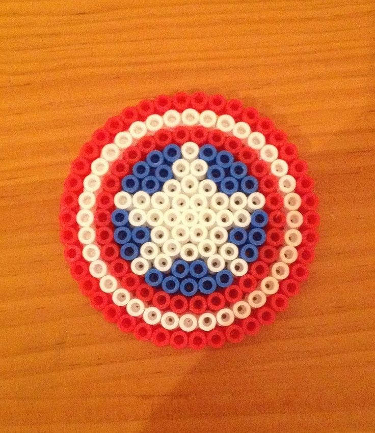 captain america perler bead - Google Search