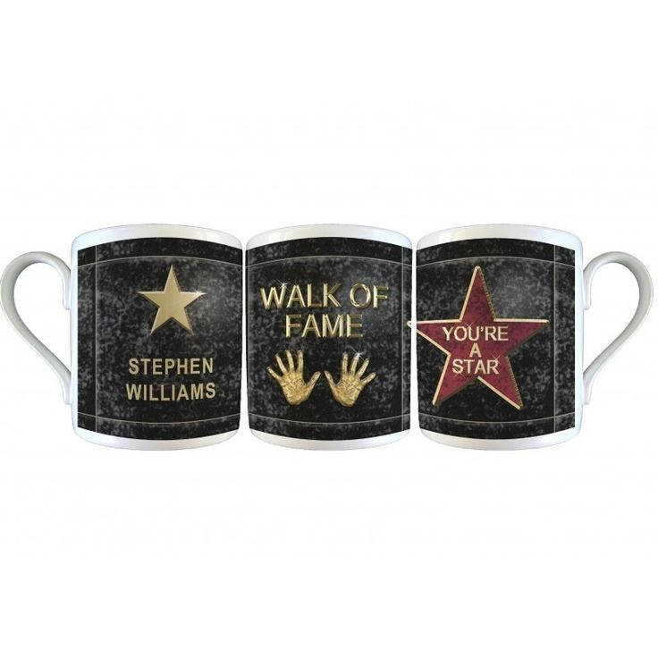 Walk of Fame Star Mug & Coaster Set | The Personalised Gift Shop