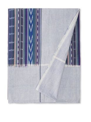 Nomadic Thread Society Double Ikat Bed Cover (Blue/Green)