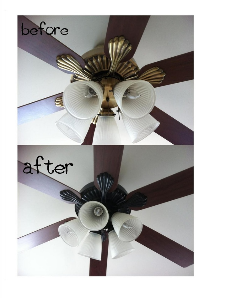spray paint ceiling fan