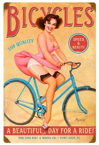 Bicycles Metal Sign 12 x 18 Inches