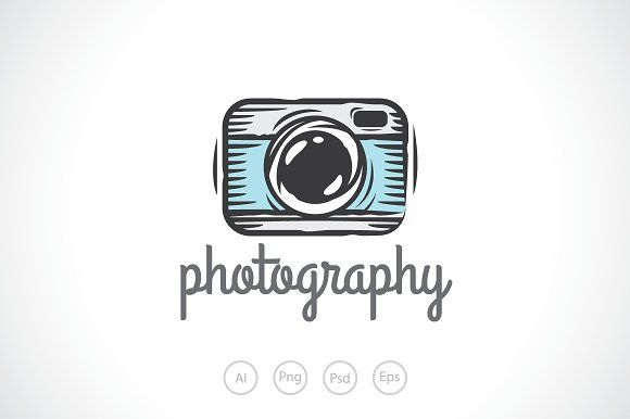 Camera Sketch Logo Template Templates **Camera Sketch Photography Logo Template**Best for camera logo, photography logo, hobby logo, hob by Heavtryq Design