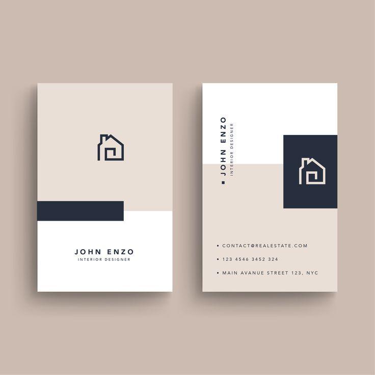 Immobilien Visitenkarte Auf Behance Real Estate Logo Text