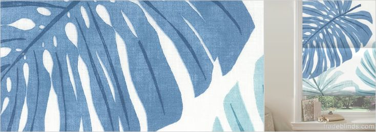 Havanna Sky Blue Roman Blinds - Wide