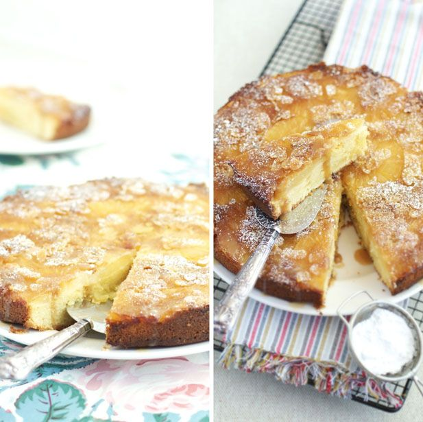 Vintage baking: Upside-down pineapple and almond cake - Yuppiechef