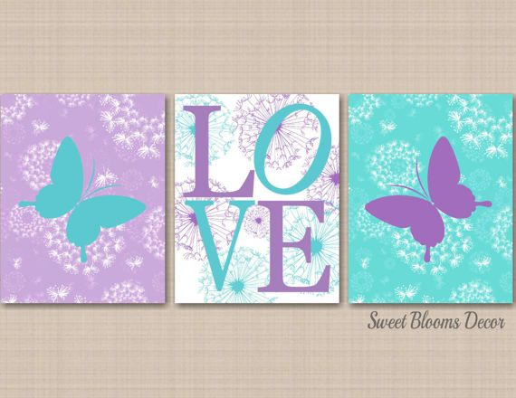 ***UNFRAMED PRINT on UltraPro Satin Luster Photo Paper, Not Canvas. You will need your own frames.*** Adorable Butterfly theme nursery wall art print set for your baby nursery or kids room. PRINTS: Includes set of 3 UNFRAMED prints on 68lb. UltraPro Satin Luster Photo Paper. Please note that these designs are not printed on Canvas and Digital Files are not offered. The color on your monitor may differ slightly from the printed art. CUSTOMIZATION: Prints are completely customizable! Colors…