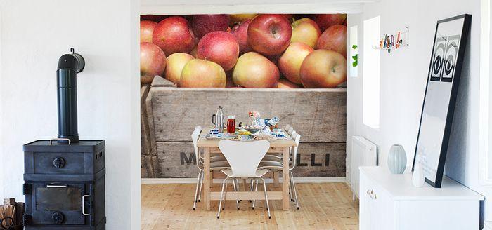 """Apples in boxes"" wallpaper by Scandiwall Photographer: Stellan Herner"