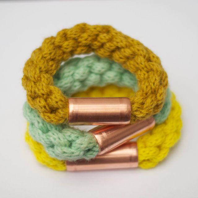 twist bracelet with copper