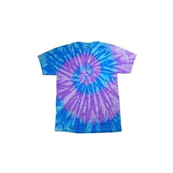 Tie-Dye T-Shirt ~ Spiral Blue Lavender ($13) ❤ liked on Polyvore featuring tops, t-shirts, shirts, tees, purple tie dye shirts, tie dye t shirts, blue t shirt, light purple shirt and tie dyed t shirts