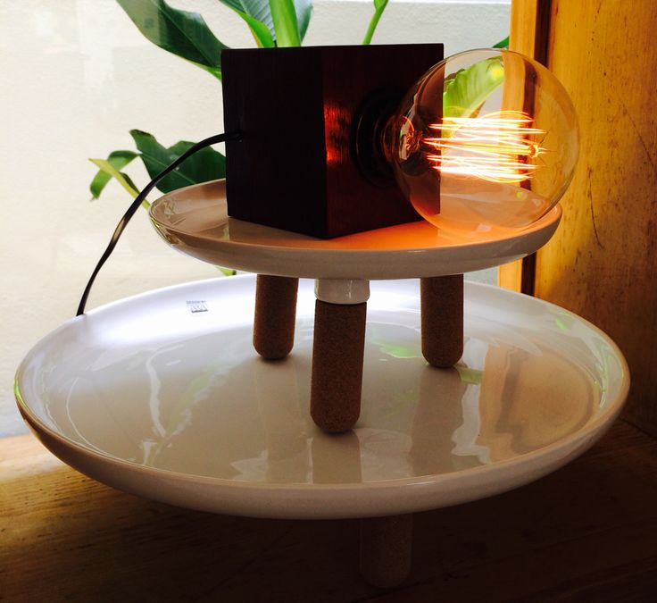 Handmade Block Lamp made from century old recycled wooden ceiling beam.