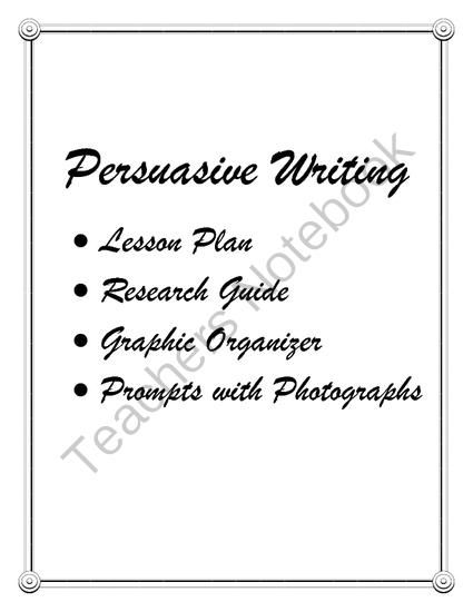 Persuasive essay helper lesson plans