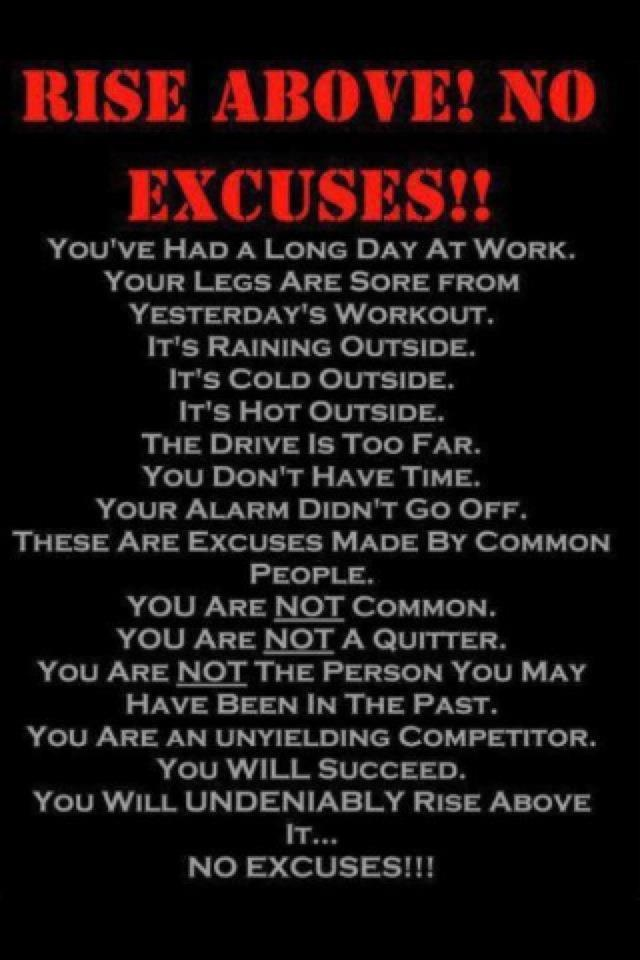 Guess it's supposed to be about exercise, but think it applies to more: Fit, Get Motivation, Workout Motivation, Motivation Quotes, Workoutmotivation, Weights Loss Secret, No Excuses, Motivation Posters, Stay Motivation