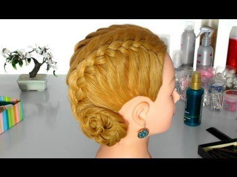 """Прическа в школу: французские косы, плетение """"рыбий хвост"""". Braided hair..."""