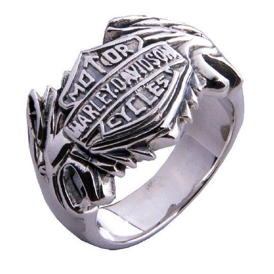 Harley Davidson Ring Motor Cycle Jewelry for Men's Fashion-Size 7