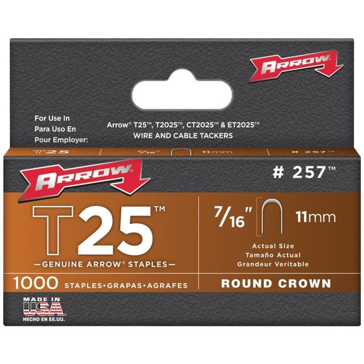 "Arrow T-25 7/16"" #257 Staple (5,000 Lot)"