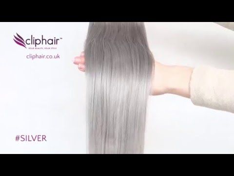 Silver/Grey Hair Extensions by Cliphair.co.uk  Order Now  https://www.cliphair.co.uk/Silver-Hair-Extensions-SG/