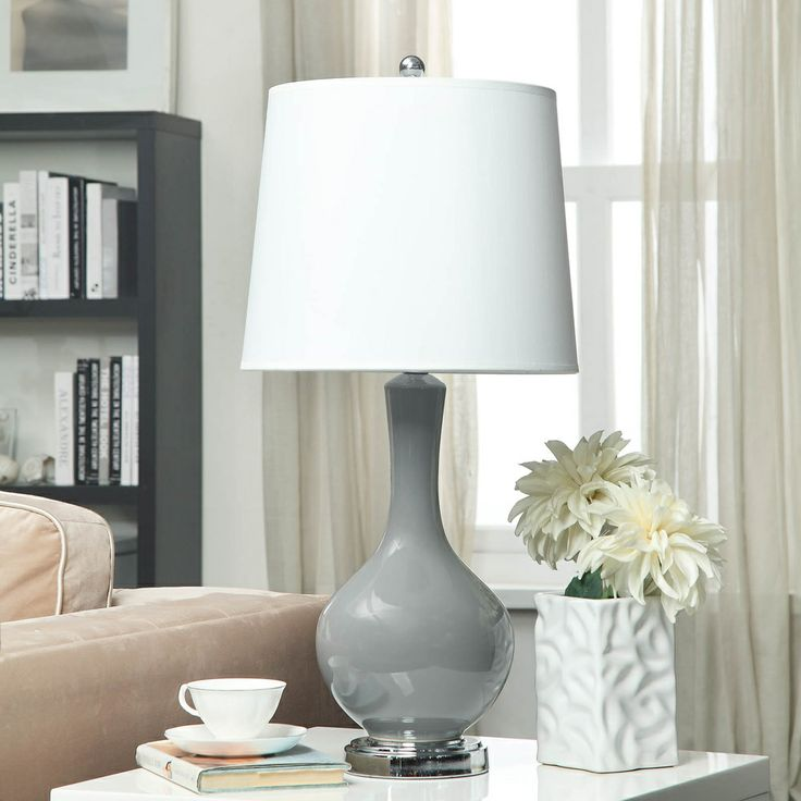 "Auva Grey Table Lamp | 29.5"" H  Overstock.com Shopping - Great Deals on Table Lamps"